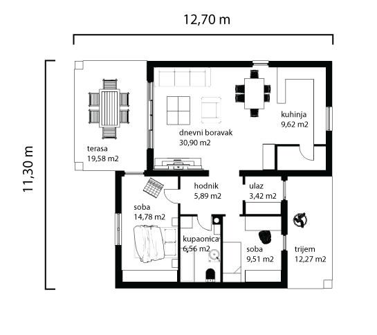 Kuća Andrea tlocrt