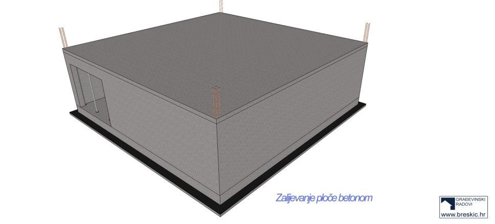 gradnja podruma 10 x 10 m2
