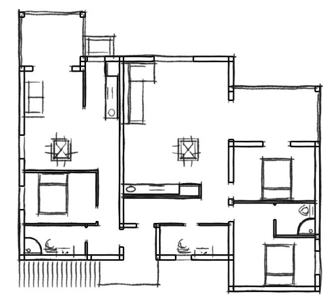 Kuća Kaja tlocrt kat